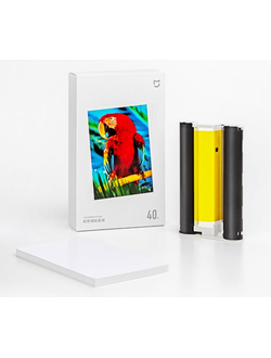 Бумага для фотопринтера Xiaomi Mijia Photo Printer Color Photo Paper (комплект 80 листов)