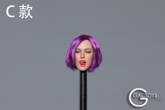 Женская голова (скульпт) 1/6 scale European and American sexy expression beauty head carving second shells (GC021C) - GACTOYS
