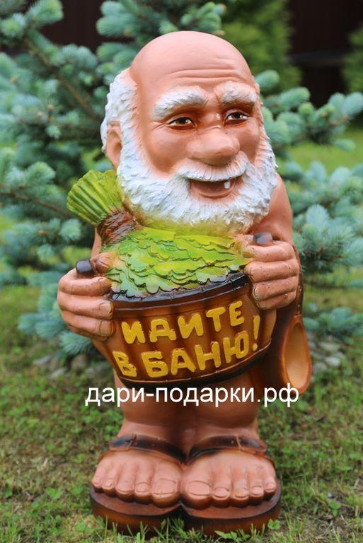 Садовая фигура «Банщик», скульптуры героев сказок, фонтаны ...