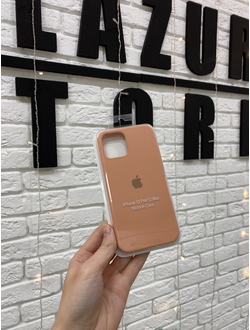 ЧЕХОЛ APPLE SILICONE CASE ДЛЯ IPHONE 12/12 PRO персиковый