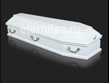 Гроб деревянный лакированный Сицилия белый