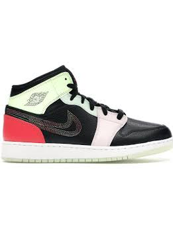 Jordan 1 Mid Glow-In-The-Dark GS AV5174-076