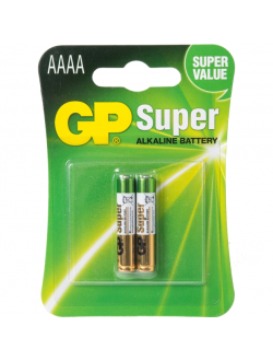 Батарейка AAAA щелочная GP Super Alkaline в блистере 2 шт