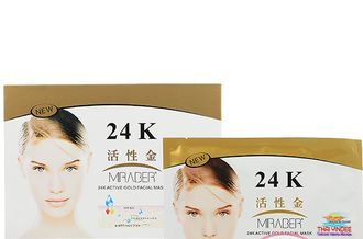 Маска для лица 24k Active Gold Facial Mask (Miraber) 30 гр