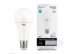 Gauss Elementary LED A67 25w 830/840/865 E27