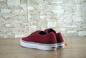 Кеды vans authentic бордовые
