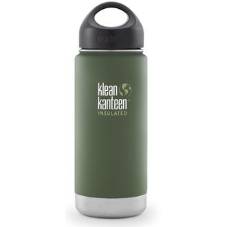 Термобутылка Klean Kanteen Insulated Wide 16oz (473 мл) Vineyard Green матовая