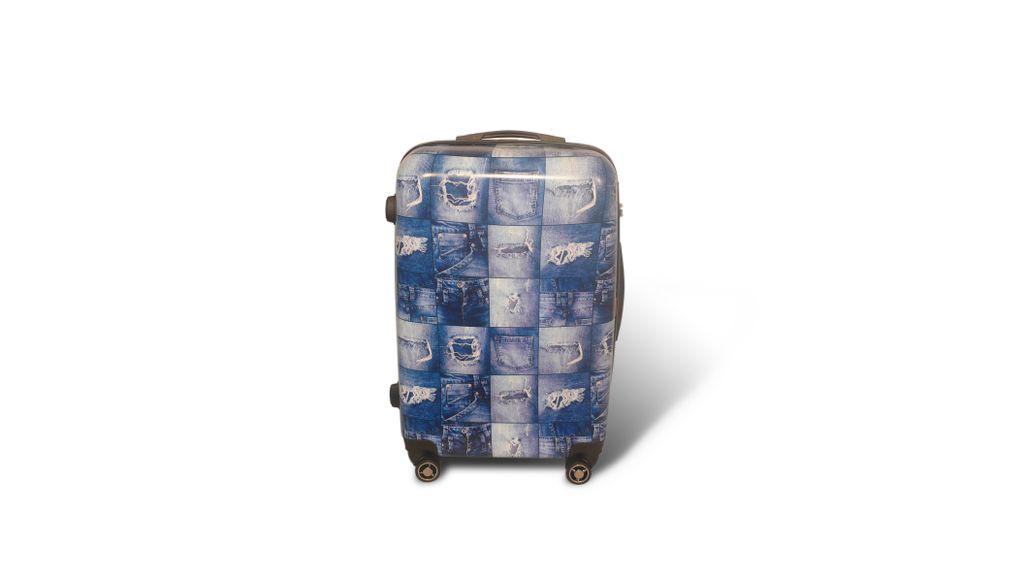 b6c3c1fec02e Чемоданы Ananda - Пластиковый чемодан Ananda синий размер L