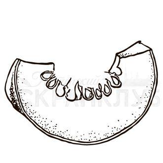 Штамп для скрапбукинга Ломтик тыквы с семечками