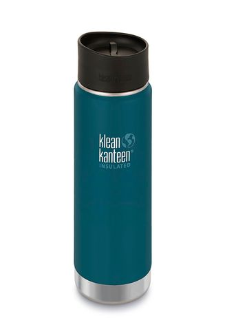 Термобутылка Klean Kanteen Insulated Wide 20oz (592 мл) Neptune Blue матовая
