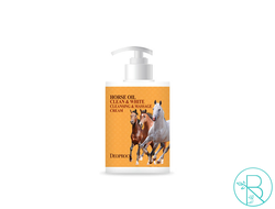 Крем для тела Deoproce Horse Oil Clean & White Cleansing & Massage Cream массажный и очищающий (450мл)