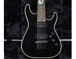 Редкий Schecter C-7 Blackjack Black с картами!
