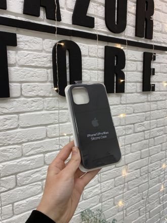 ЧЕХОЛ APPLE SILICONE CASE ДЛЯ IPHONE 12 Pro max черный