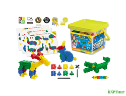 Конструктор Morphun Junior 24 Animals Set «Животные», 252 детали, 4+