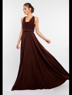 be5367b4c8f Платье трансформер для подружек невесты -NAOMI - Королевский шоколадный. В  наличии