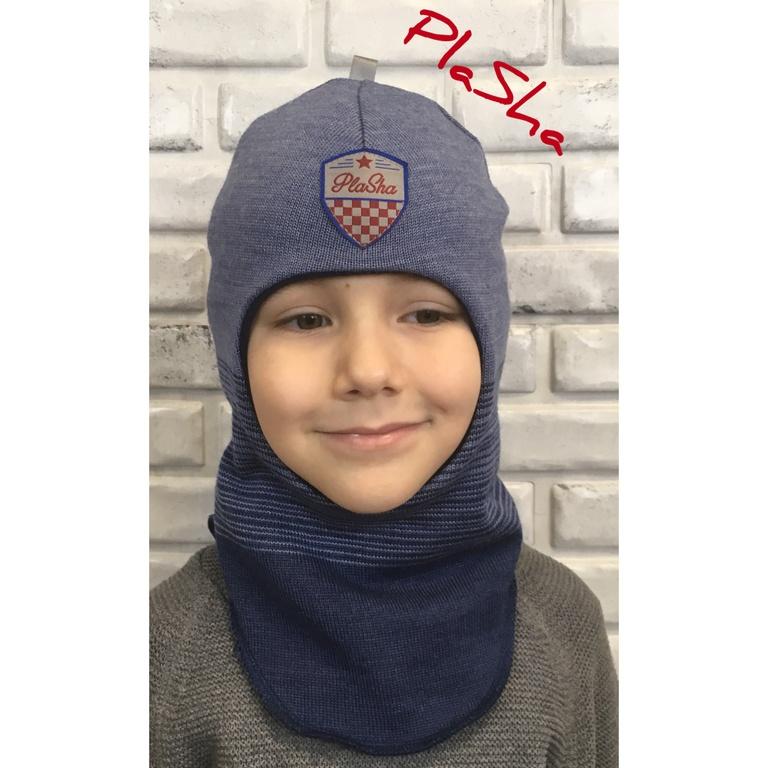 Арт.058 Шлем на флисовом подкладе для мальчиков