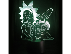 Купить 3D лампу Рик и Морти Rick and Morty