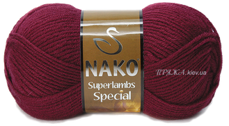 Nako Superlambs special 6592 бордовый