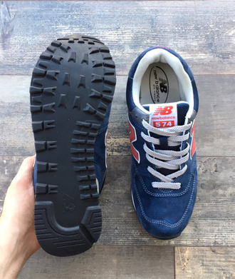 Кроссовки New Balance 574 Blue/Red замша