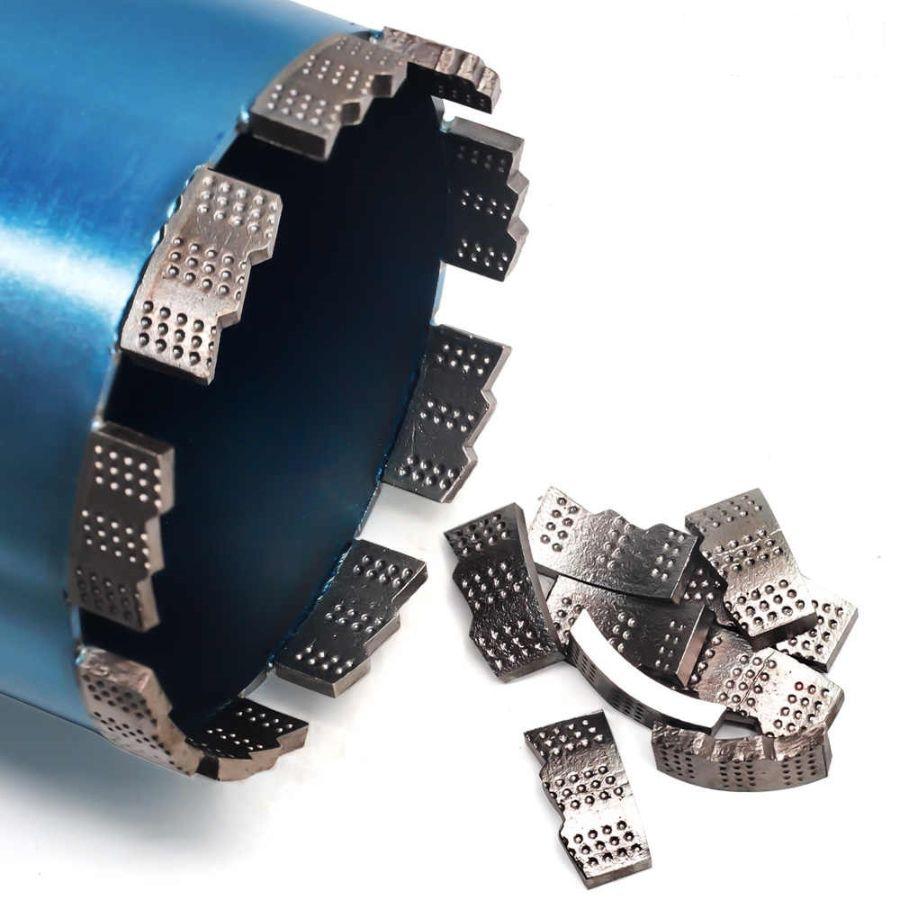 Алмазная коронка BYCON диаметр 200 мм L450 мм. CHETAK series. Лазерная сварка сегментов