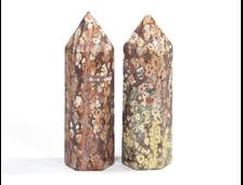 Яшма Леопардовая, кристалл-карандаш в ассортименте, Мексика (75*25*22 мм, 65 г) №16700