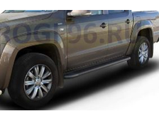 Пороги на Volkswagen  Amarok (2010-2015) Black Optima