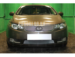 Защита радиатора KIA Cerato 2011-2013 chrome низ