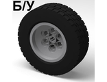 ! Б/У - Wheel 62.4 x 20 with Short Axle Hub, with Black Tire 62.4 x 20 (86652 / 32019), Light Bluish Gray (86652c01) - Б/У