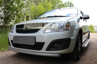 Защита радиатора Lada Largus 2012- / Largus Cross 2014- black низ