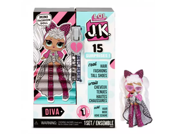 MGA Entertainment Мини Кукла ЛОЛ сюрприз 9 см LOL Surprise! JK Diva Mini Fashion Doll с 15 сюрпризами 570752