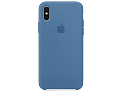 Чехол-накладка Apple Silicone Case iPhone Denim Blue