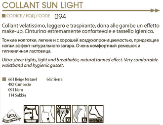 Omsa™ Sun Light 8 den 2=S (Beige Naturel)