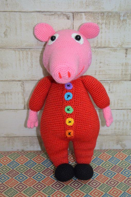 ручная работа вязаная игрушка ручной работы свинка пеппа