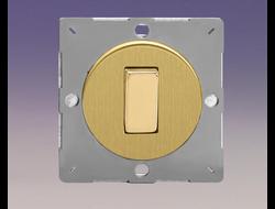 Одноклавишный выключатель/переключатель 10А, Brushed Brass/матовая латунь (механизм)
