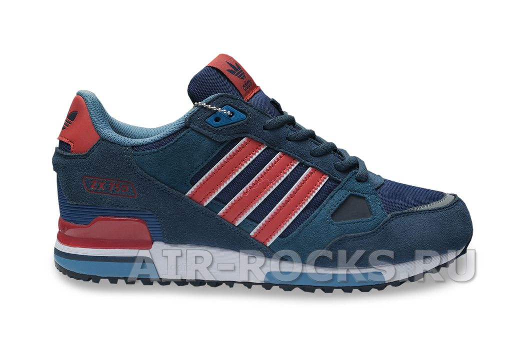 83275c0efab3 Купить кроссовки Adidas ZX 750 Blue дешево   Интернет-магазин Синие Адидас  Зэт Икс 750 в Москве