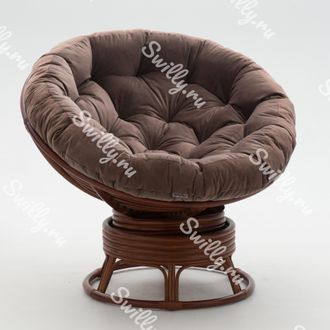 Кресло Swilly Swivel Papasan 4 орех
