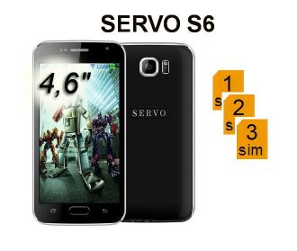 "SERVO S6 4.6"" 3 сим, WI- FI Bluetooth"