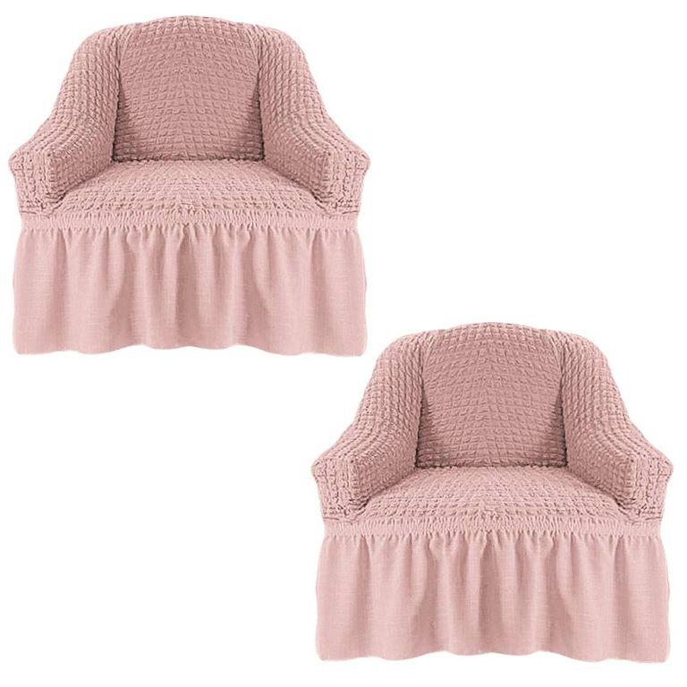 Чехлы на 2 кресла, Пудра 206