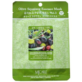 Маска тканевая олива Olive Squalane Essence Mask 23гр