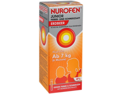 Nurofen Junior (Нурофен джуниор), суспензия 4%, вкус клубники