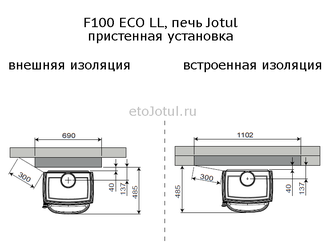 F100 ECO LL SE BP, печь Jotul