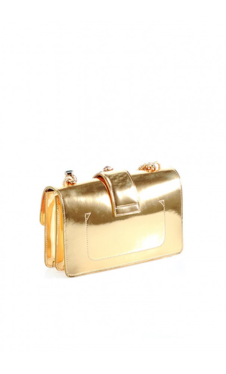 Pinko Love Mini Bag JEWEL DETAILS CREAM GOLD