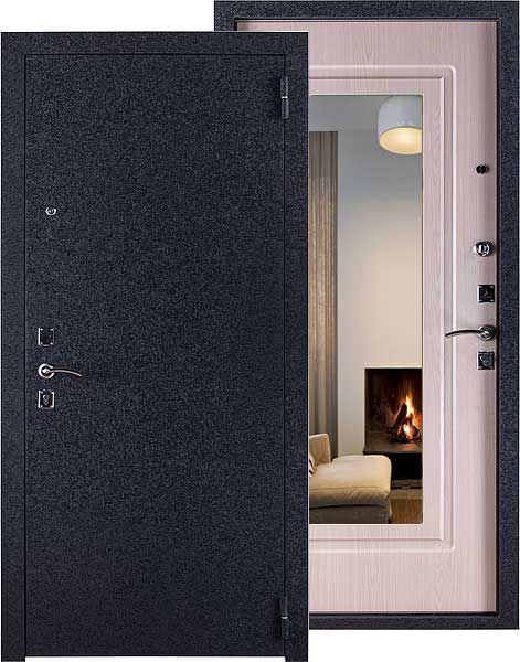 металлические входные двери в электростали с зеркалом