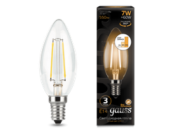 Gauss LED Filament Candle B60 Step Dimmable 7w 827/840 E14