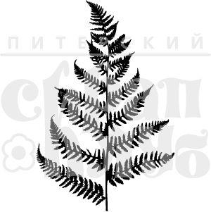 Штамп для скрапбукинга папоротник