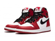 Nike Air Jordan Retro 1 Mid White High Og Красные с белым