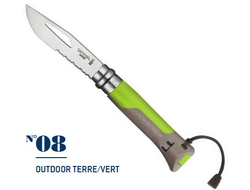 Нож Opinel №08 Outdoor Earth-Green