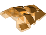 Wedge 4 x 4 Fractured Polygon Top with Gold Facets Pattern, Trans-Orange (64867pb03 / 6267533)