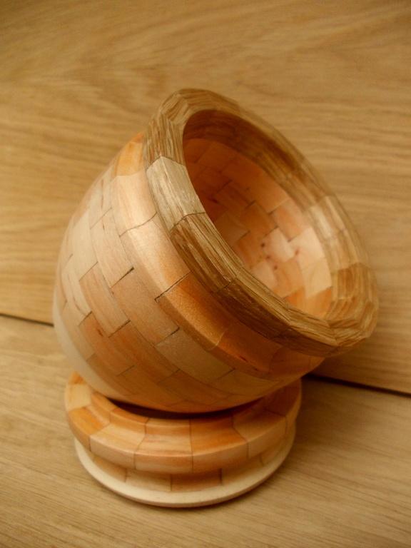 Деревянная сахарница с крышкой