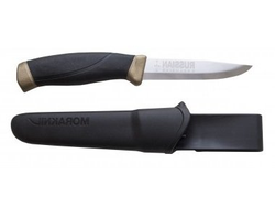Нож Morakniv Companion Russian Exclusive Black-Gold, нержавеющая сталь